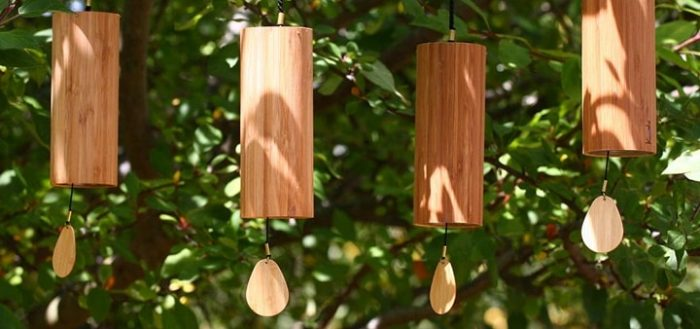 Relaxing Sound of Bamboo Wind Chimes | Ambient Sounds