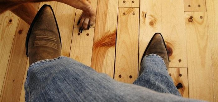 Walking on a Wooden Floor