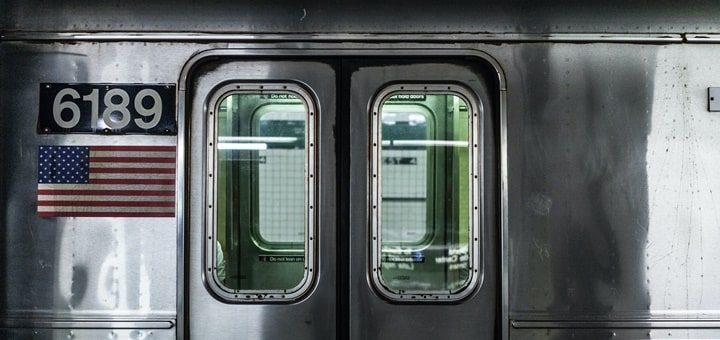 Subway Metro Train Door Closing with Warning Beeps Sound