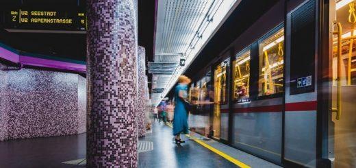 Inside Metro Train Ambience Vienna Austria