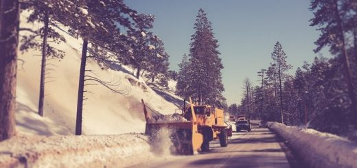 Snow Plow Passing by Sound Effect