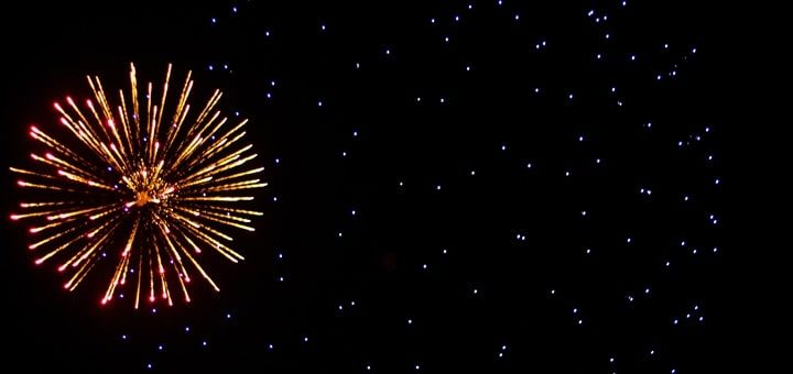 Firework Firing and Exploding in the Distance Sound Effect